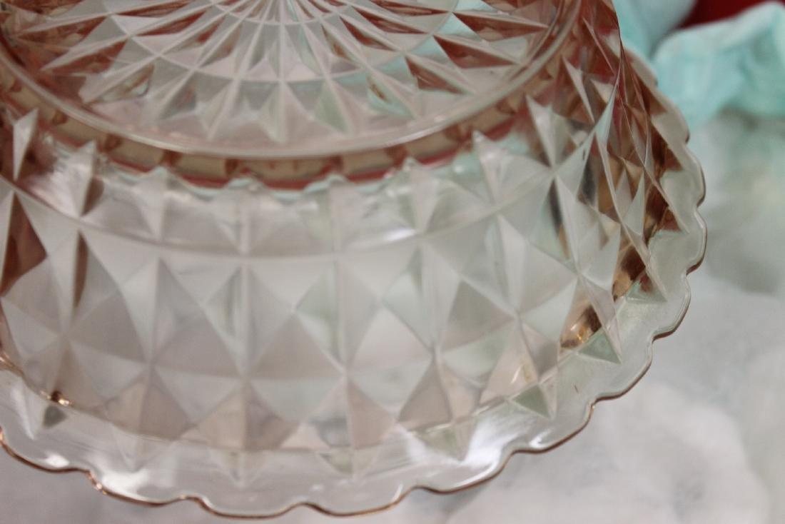 A Fostoria Pink Depression Glass Bowl - 3