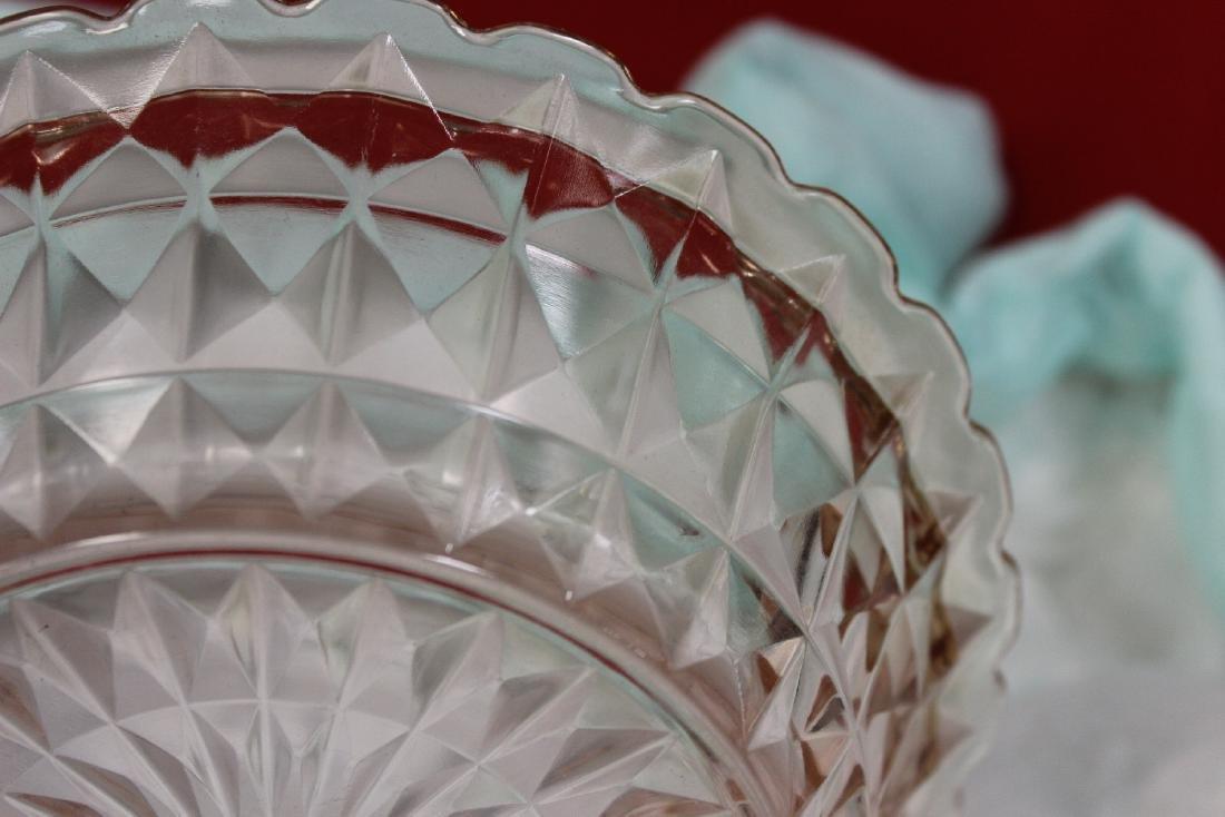 A Fostoria Pink Depression Glass Bowl - 5