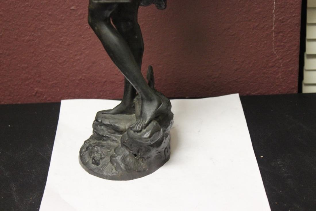 A Signed Heavy Bronze Statue - 10