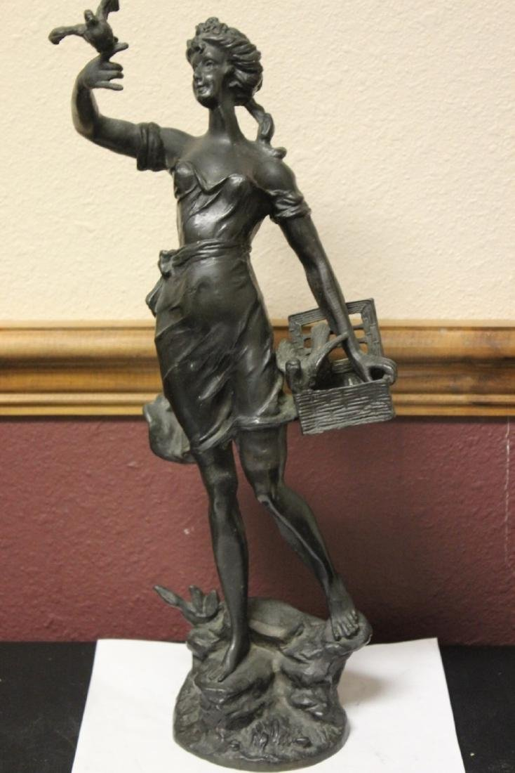 A Signed Heavy Bronze Statue - 3