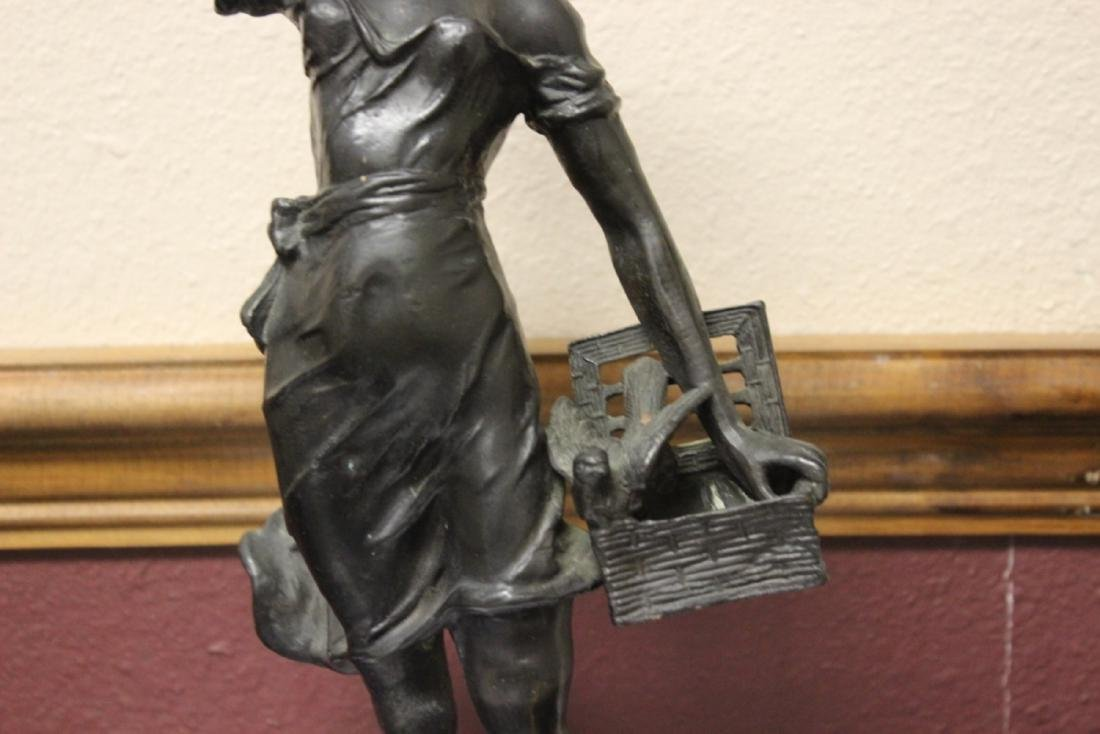 A Signed Heavy Bronze Statue - 6