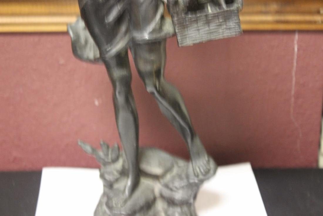 A Signed Heavy Bronze Statue - 7