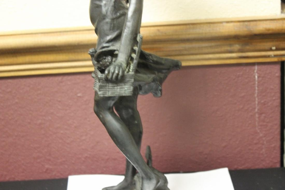 A Signed Heavy Bronze Statue - 9