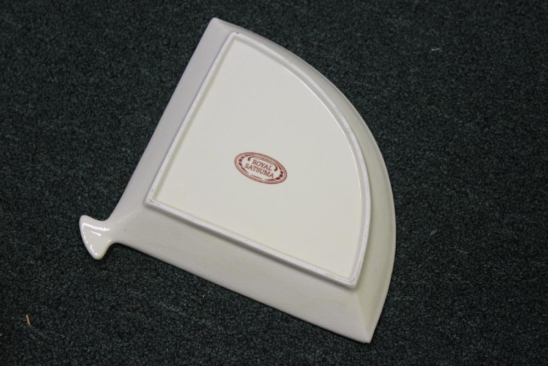 A Royal Satsuma Fan Dish - 2