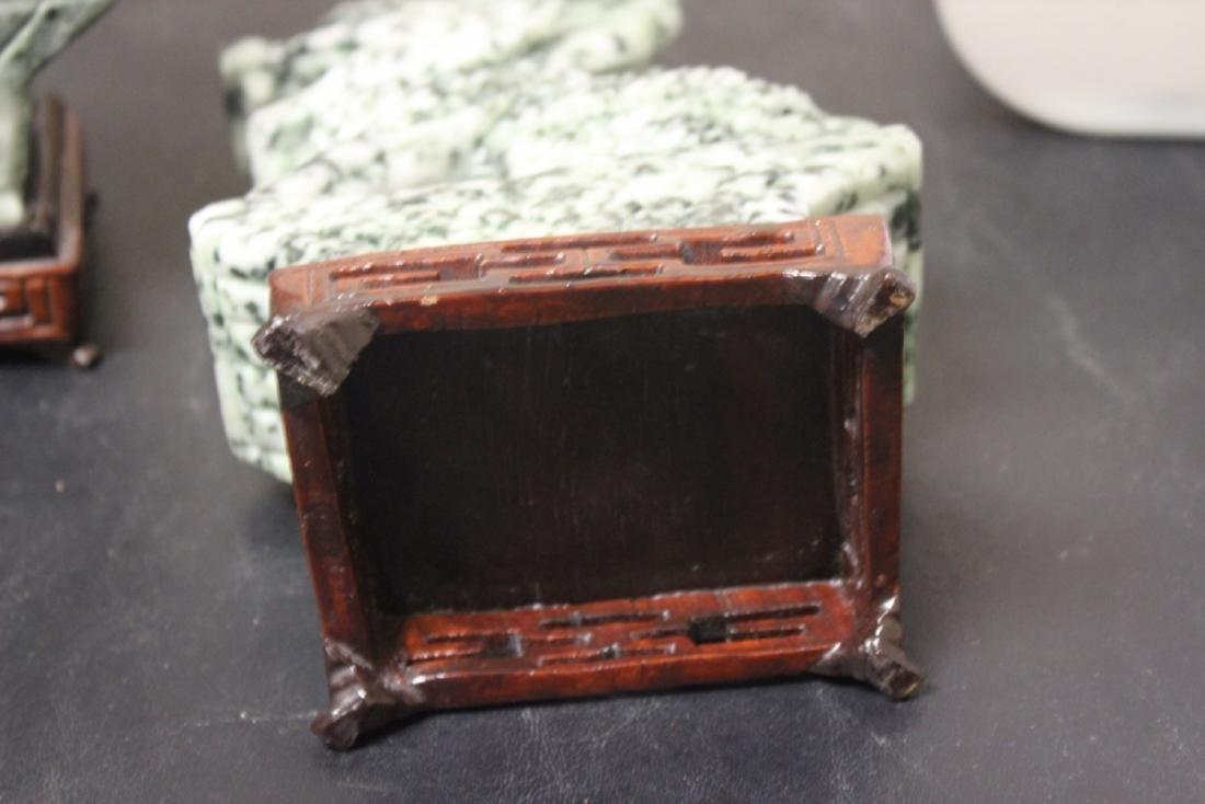 Set of Two Jade or Hardstone Chinese Beast - 10