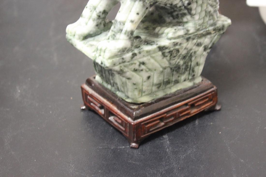 Set of Two Jade or Hardstone Chinese Beast - 5