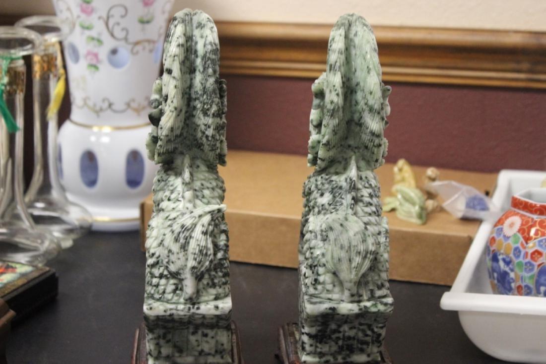Set of Two Jade or Hardstone Chinese Beast - 7