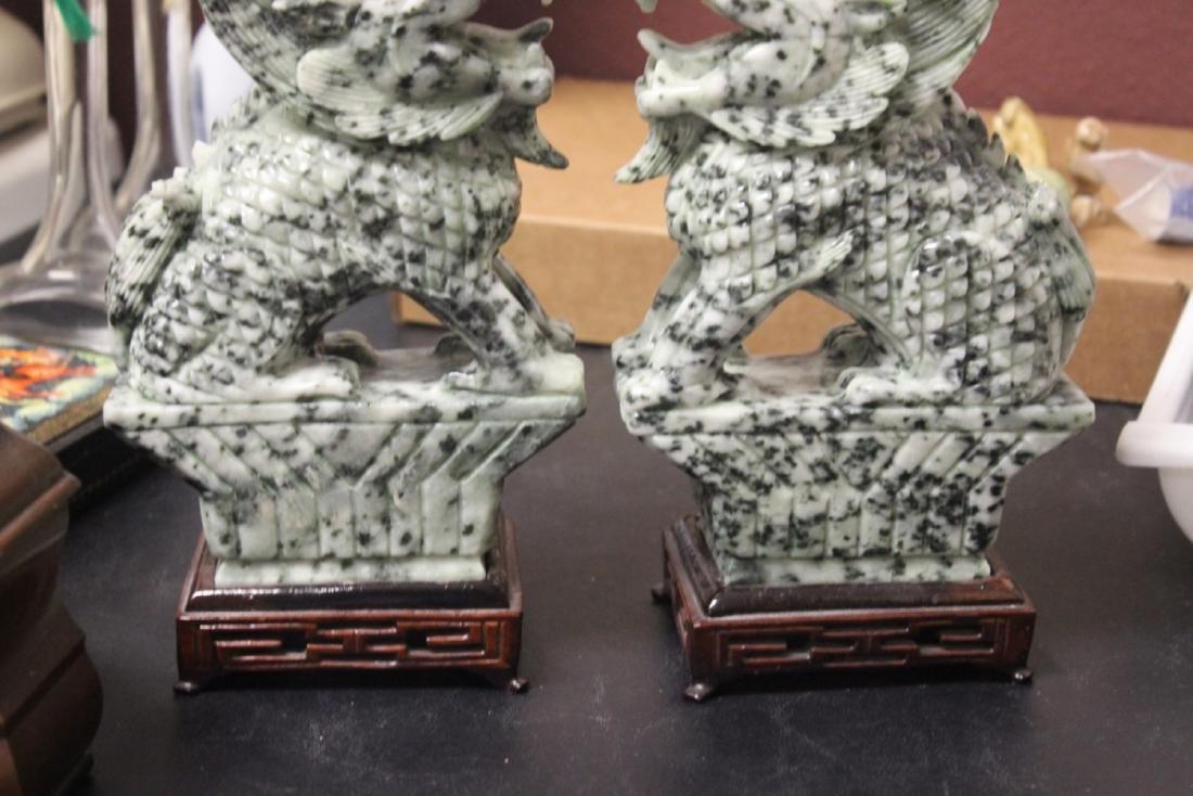 Set of Two Jade or Hardstone Chinese Beast - 9
