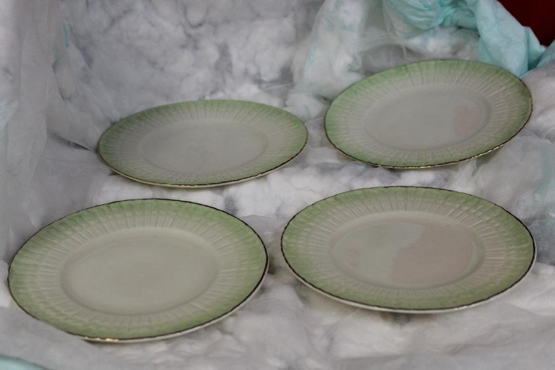 Set of 4 Belleek China Bread Plate