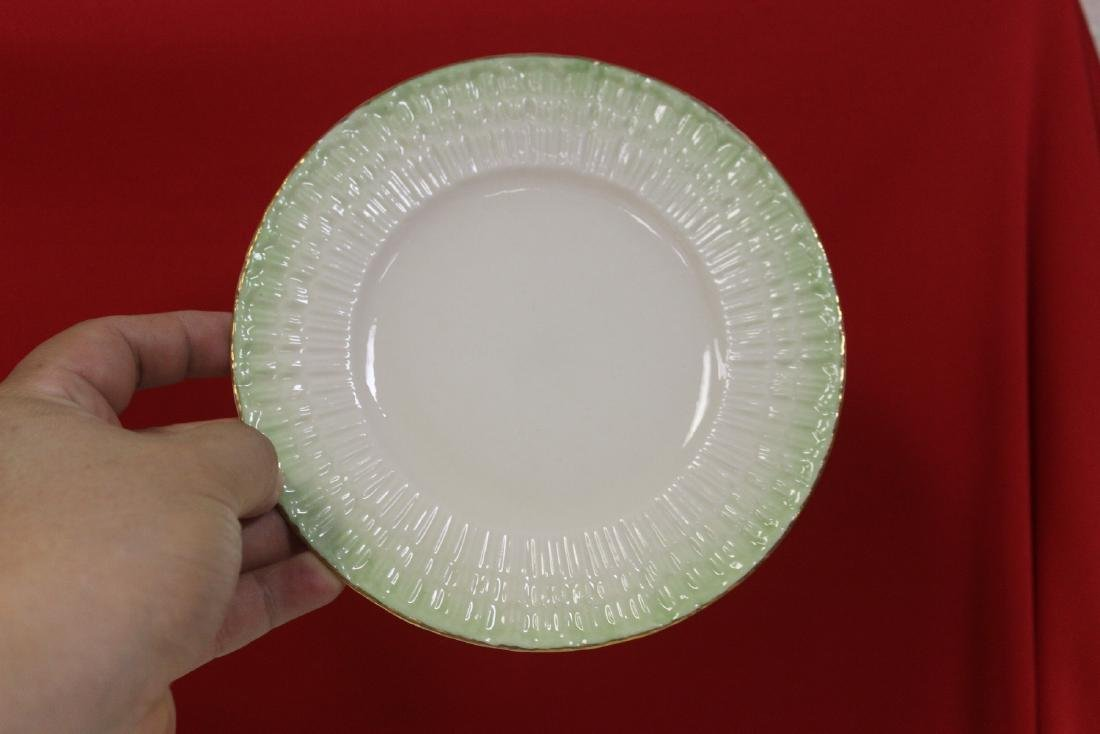 Set of 4 Belleek China Bread Plate - 4