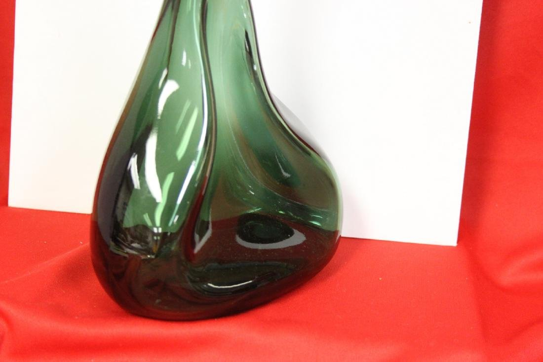 A Green Glass Vase - 2