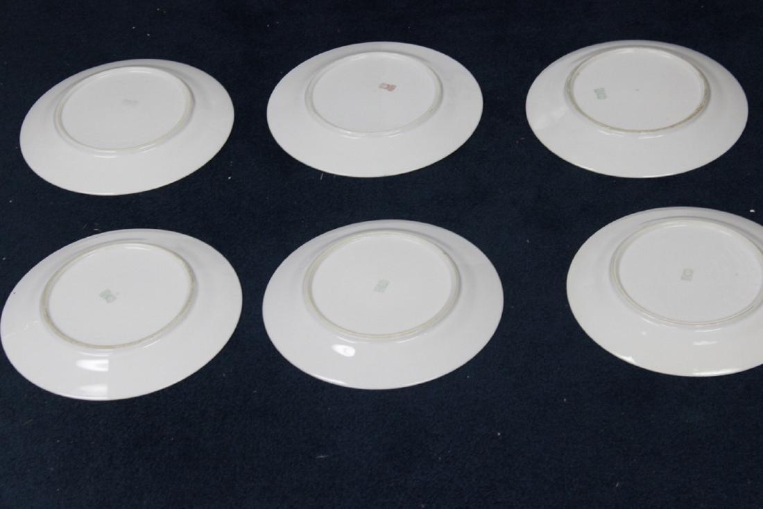 Lot of 6 Noritake Azalea Pattern Dinner Plates - 10