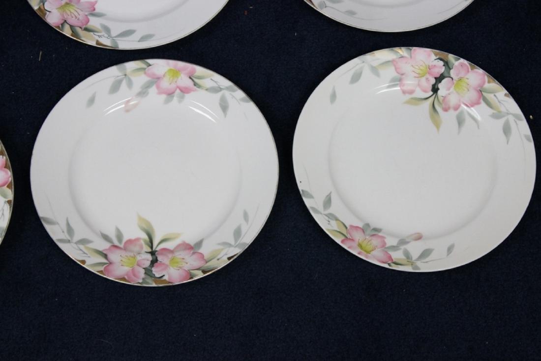 Lot of 6 Noritake Azalea Pattern Dinner Plates - 2