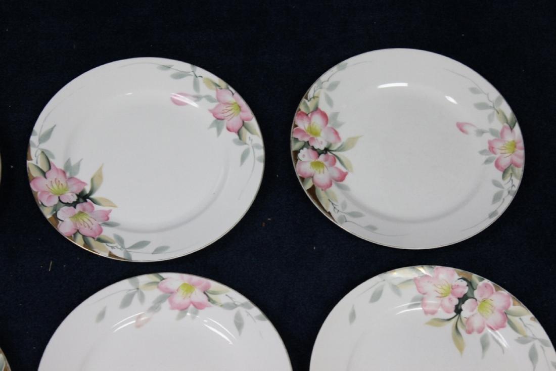 Lot of 6 Noritake Azalea Pattern Dinner Plates - 3