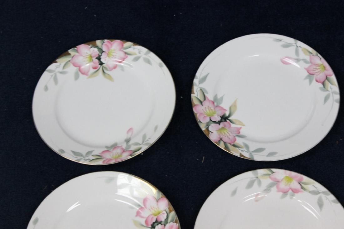 Lot of 6 Noritake Azalea Pattern Dinner Plates - 4