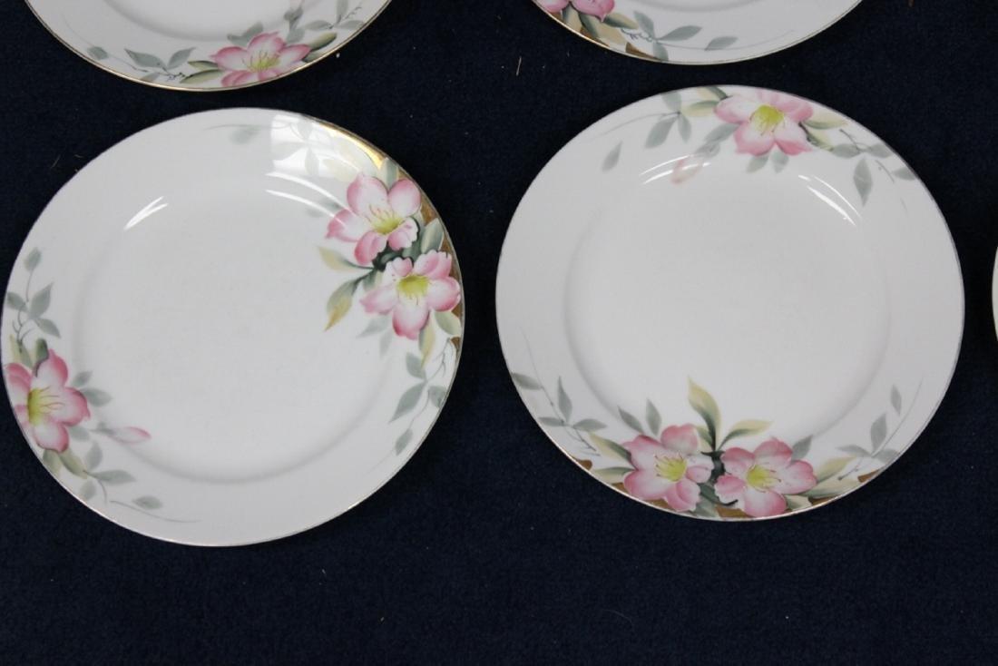Lot of 6 Noritake Azalea Pattern Dinner Plates - 6