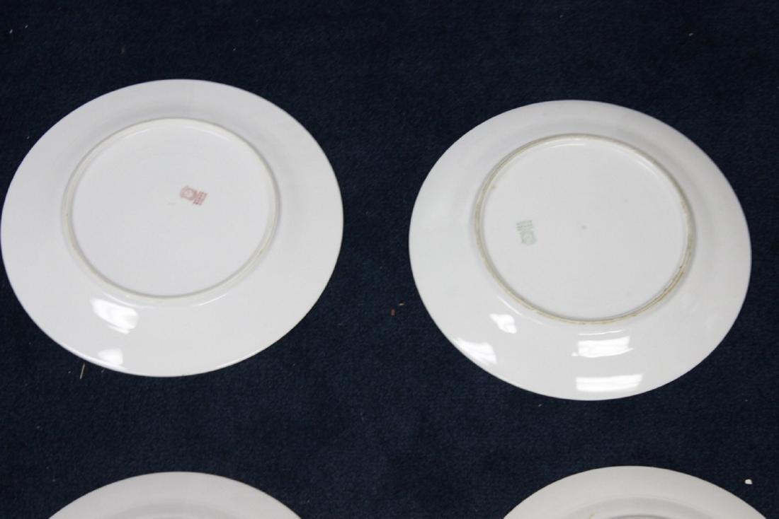 Lot of 6 Noritake Azalea Pattern Dinner Plates - 7