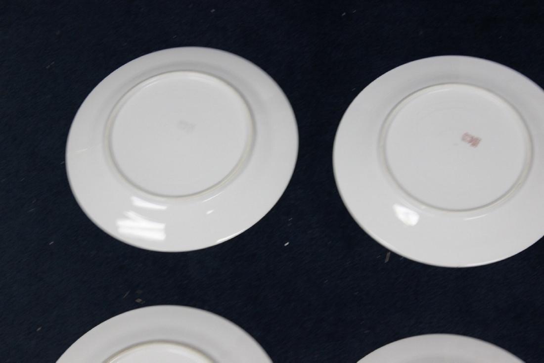 Lot of 6 Noritake Azalea Pattern Dinner Plates - 8