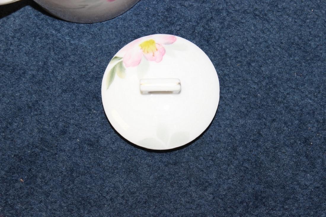 An Azalea Pattern Creamer and Sugar and Nut Dish - 10