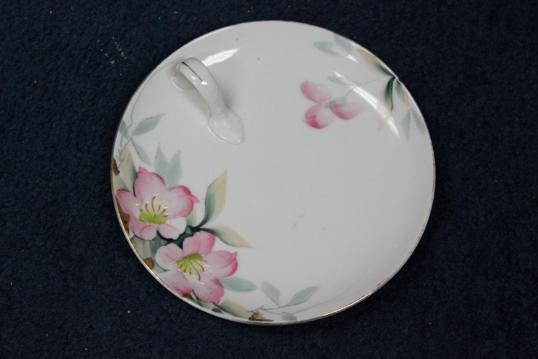 An Azalea Pattern Creamer and Sugar and Nut Dish - 7