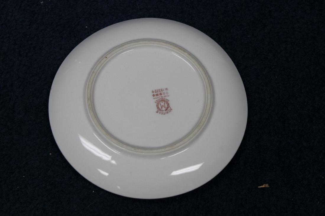 An Azalea Pattern Creamer and Sugar and Nut Dish - 8