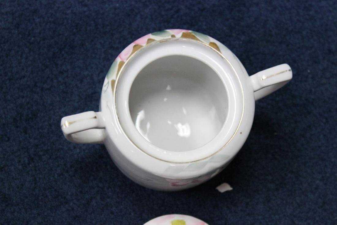 An Azalea Pattern Creamer and Sugar and Nut Dish - 9
