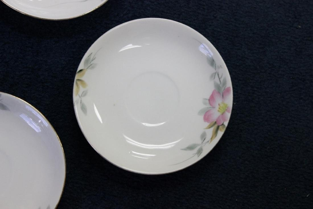 A Whip Cream Bowl and 4 Saucers - Noritake Azalea - 2