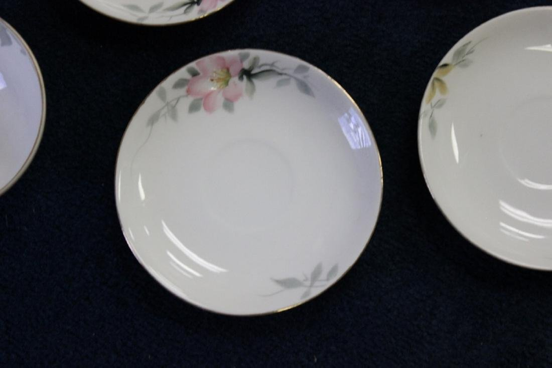 A Whip Cream Bowl and 4 Saucers - Noritake Azalea - 3