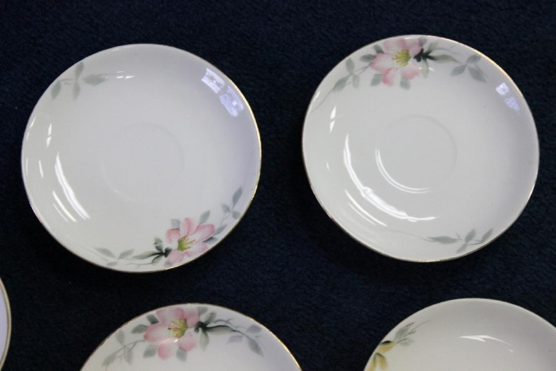 A Whip Cream Bowl and 4 Saucers - Noritake Azalea - 4