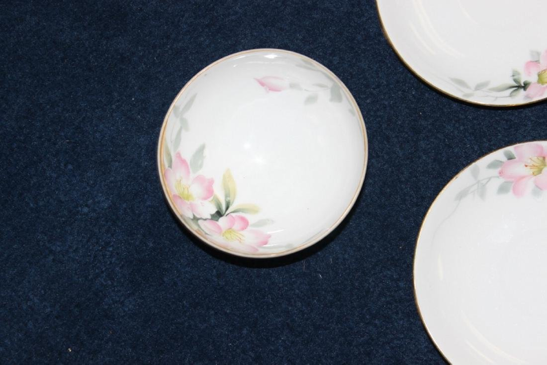A Whip Cream Bowl and 4 Saucers - Noritake Azalea - 6