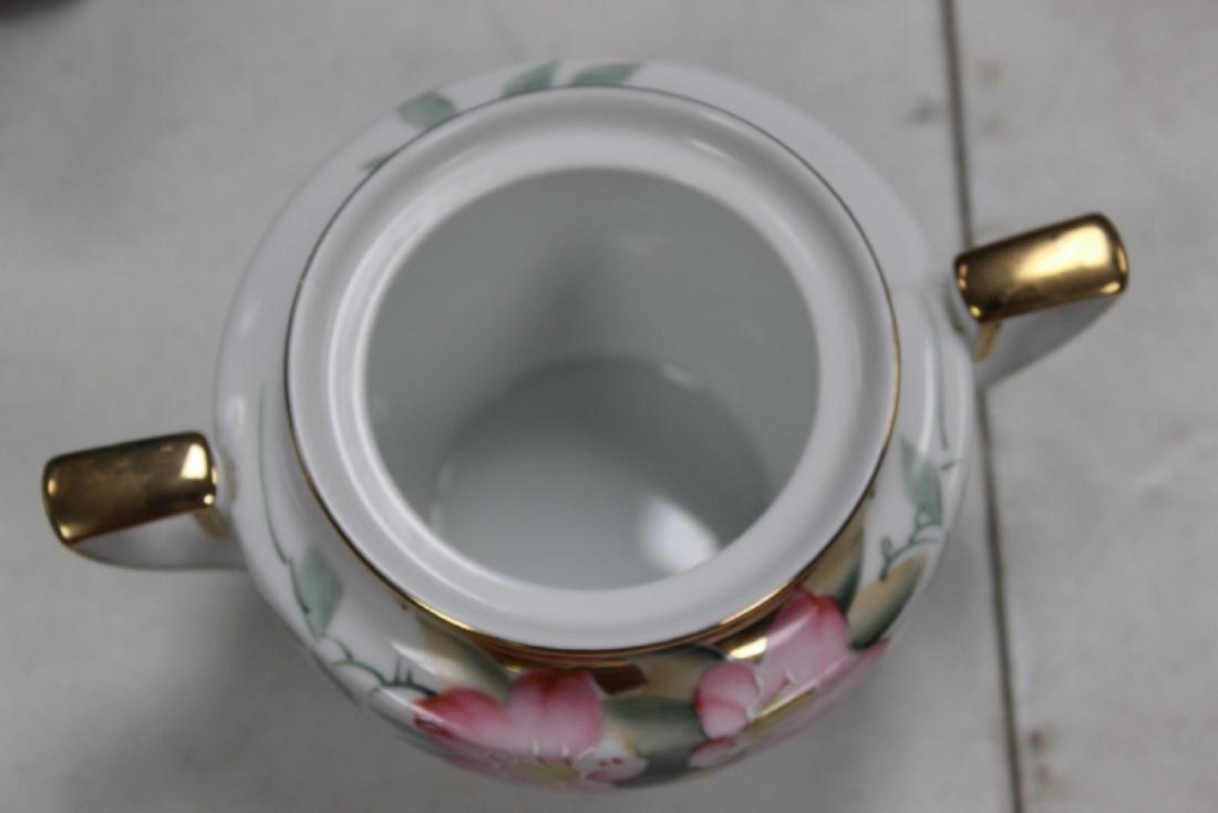 A Noritake Azalea Pattern Sugar Container - 4