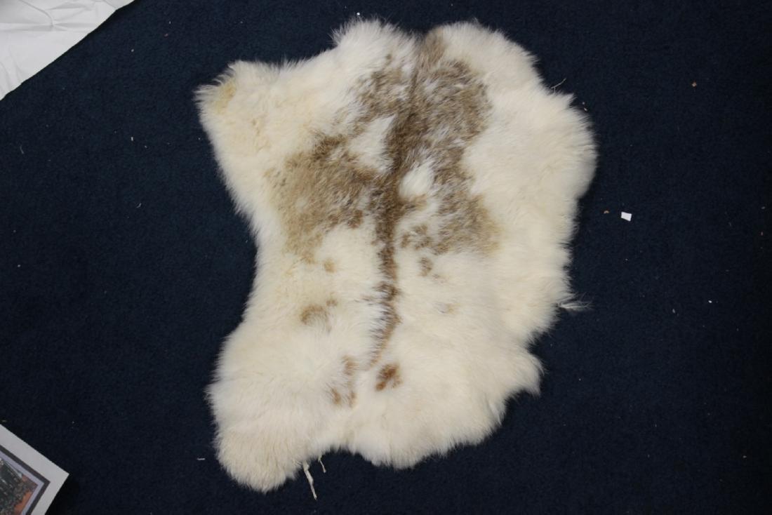 A Rabbit (?) Skin Small Rug