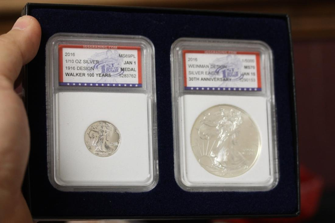 Two Graded IGS Graded Coins