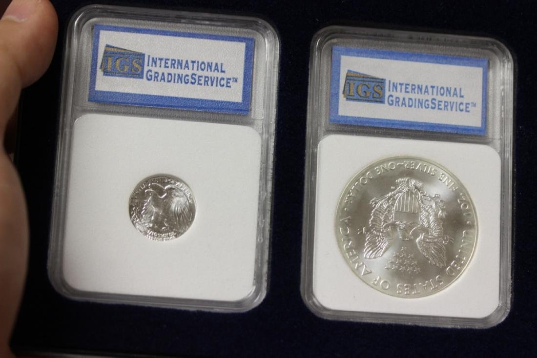 Two Graded IGS Graded Coins - 2