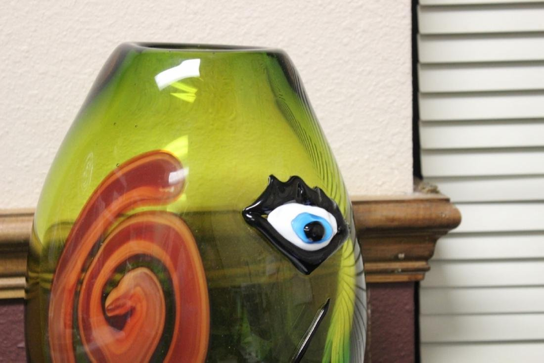 A Picasso Style Art Glass Vase - 2