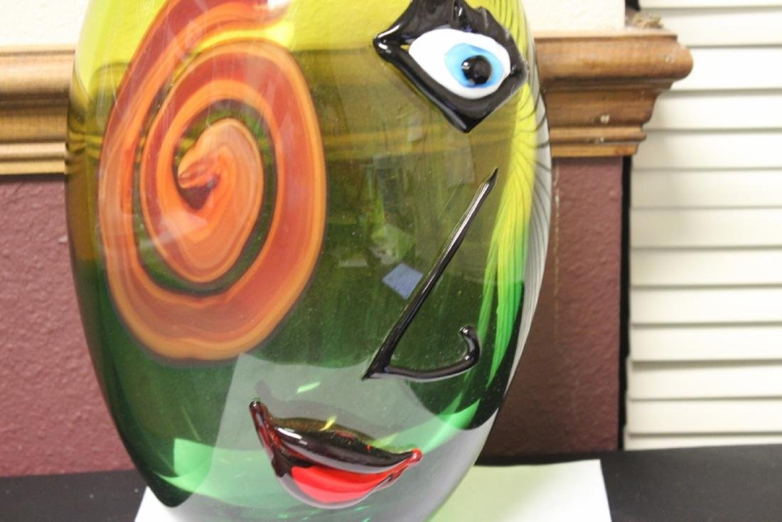 A Picasso Style Art Glass Vase - 3