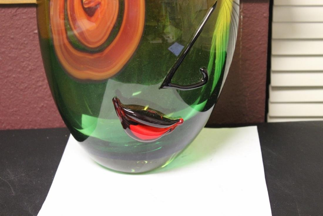 A Picasso Style Art Glass Vase - 4