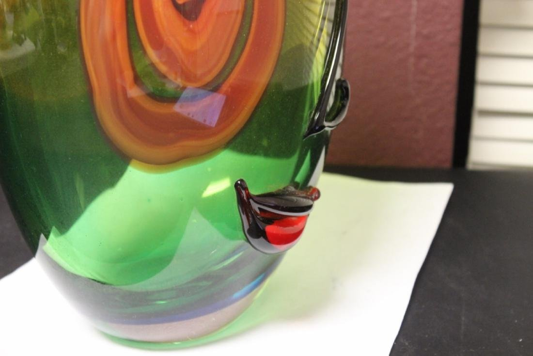 A Picasso Style Art Glass Vase - 9