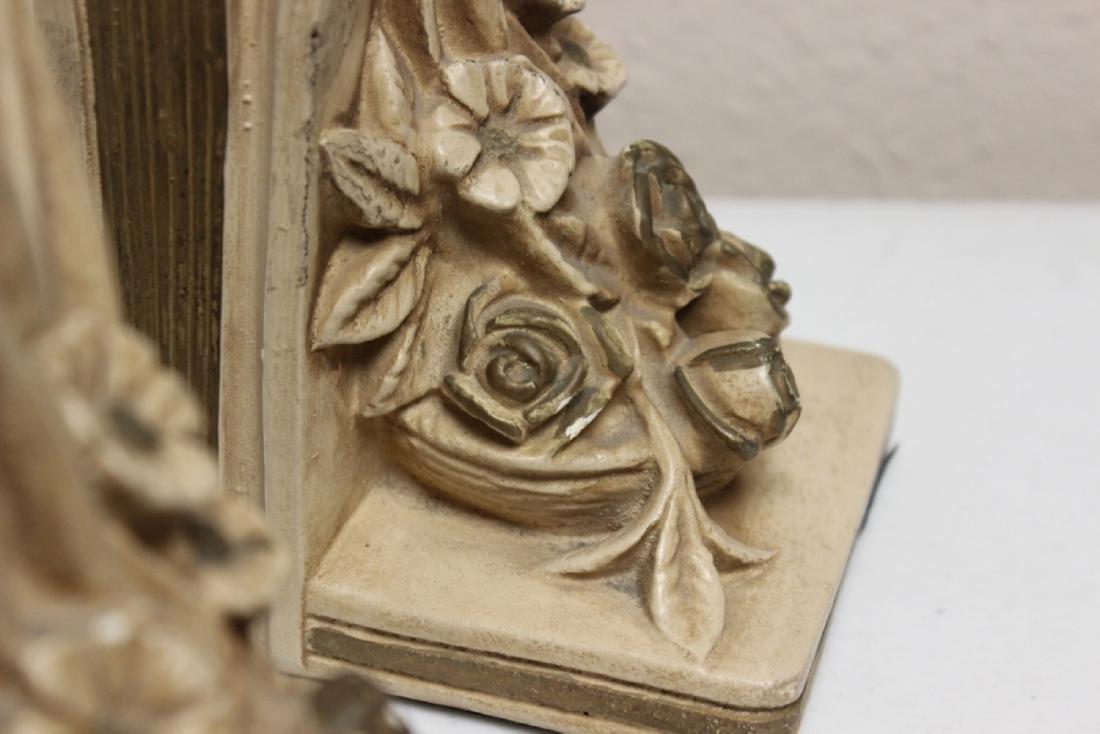 Ceramic Floral Book Ends - 3