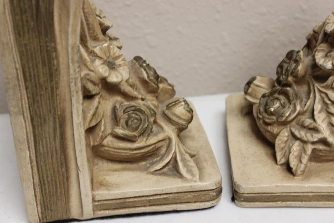 Ceramic Floral Book Ends - 5