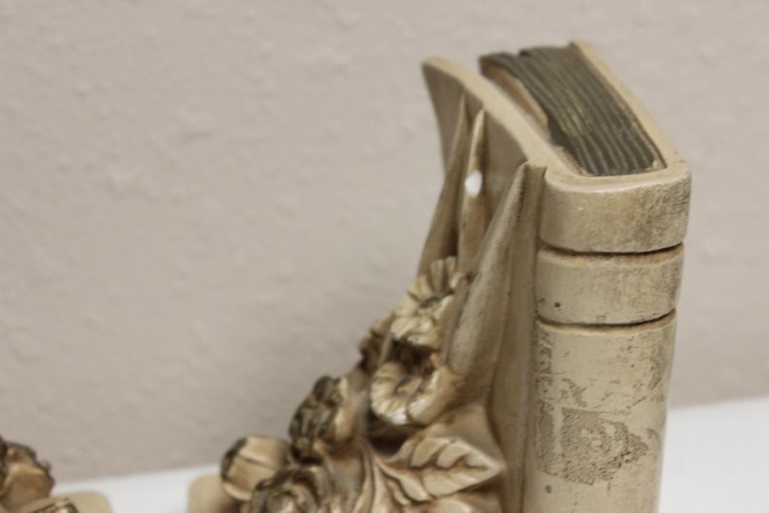 Ceramic Floral Book Ends - 6