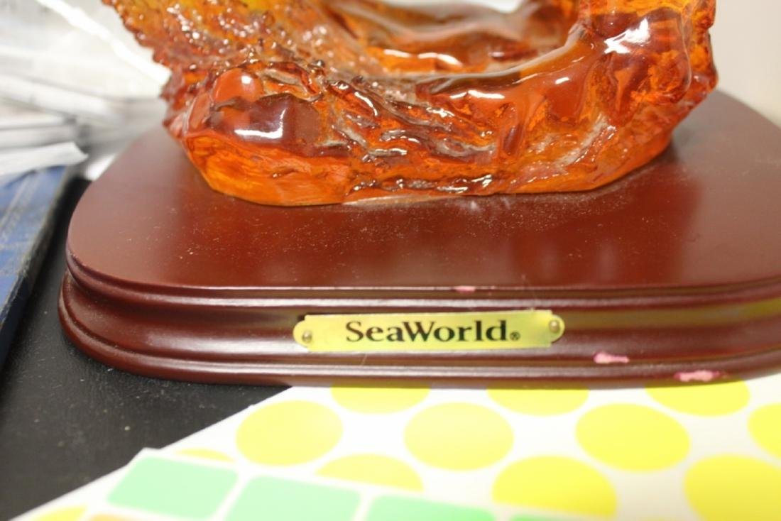 A Seaworld Lucite Eagle on Stand - 2
