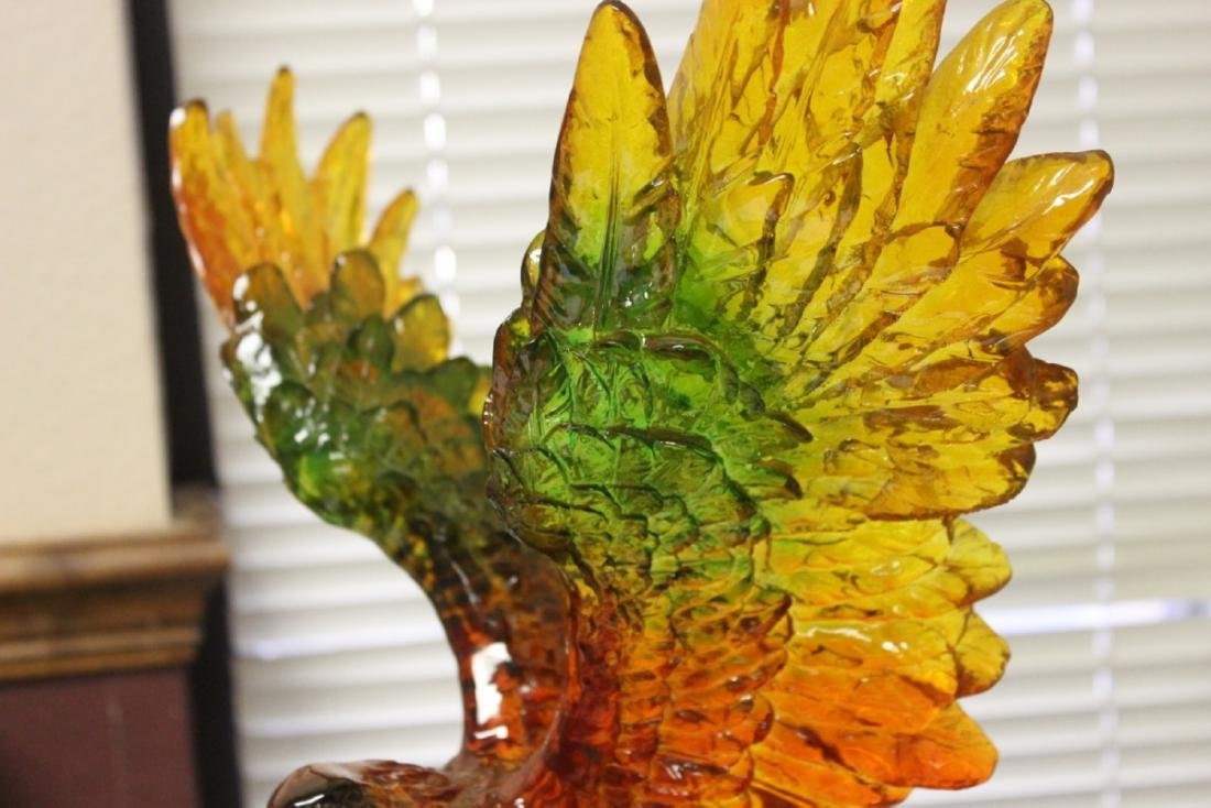 A Seaworld Lucite Eagle on Stand - 9