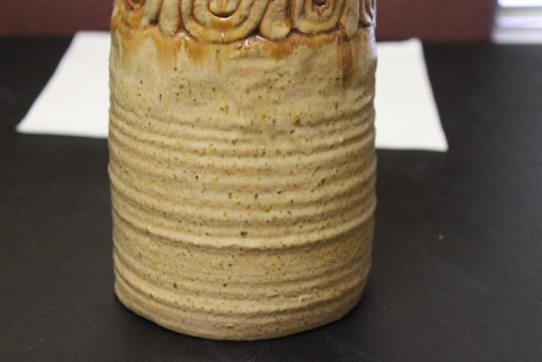 A Clay Cylinder Vase - 5