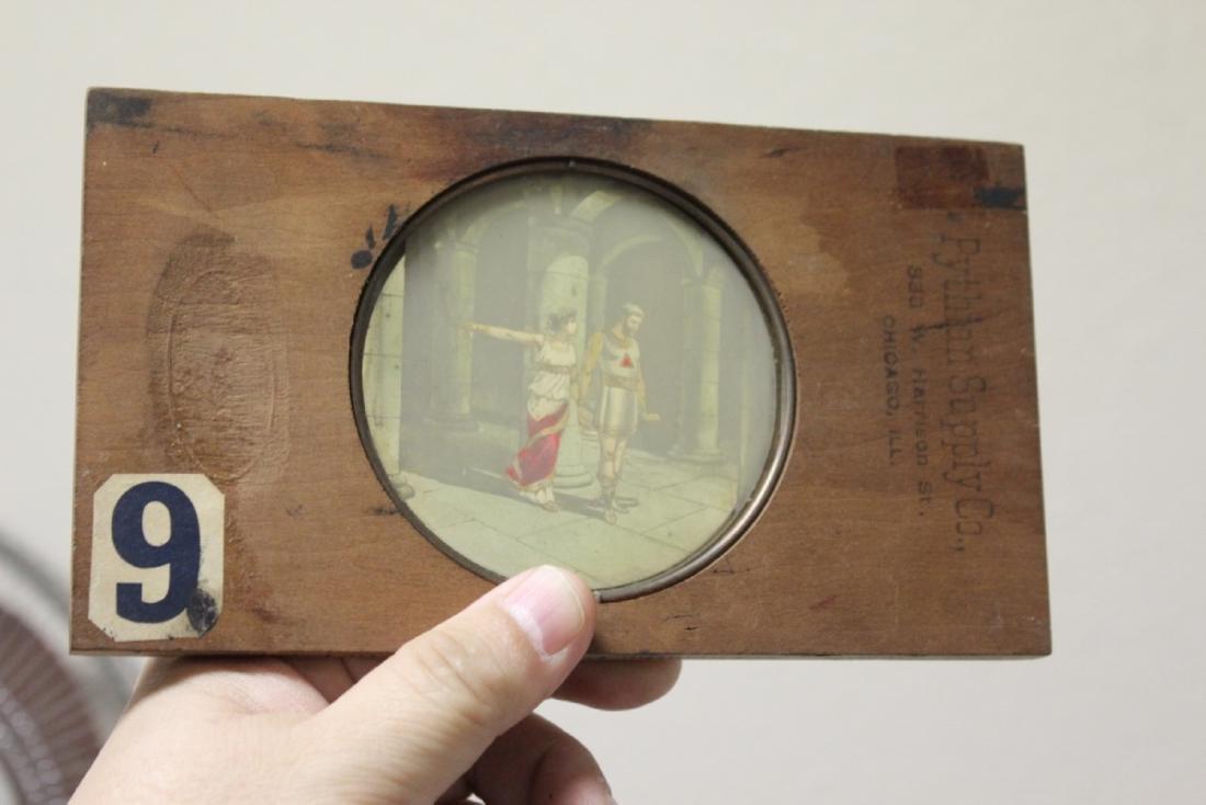A Wood Framed Glass Slide