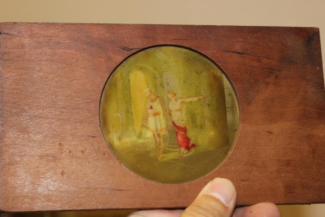 A Wood Framed Glass Slide - 3
