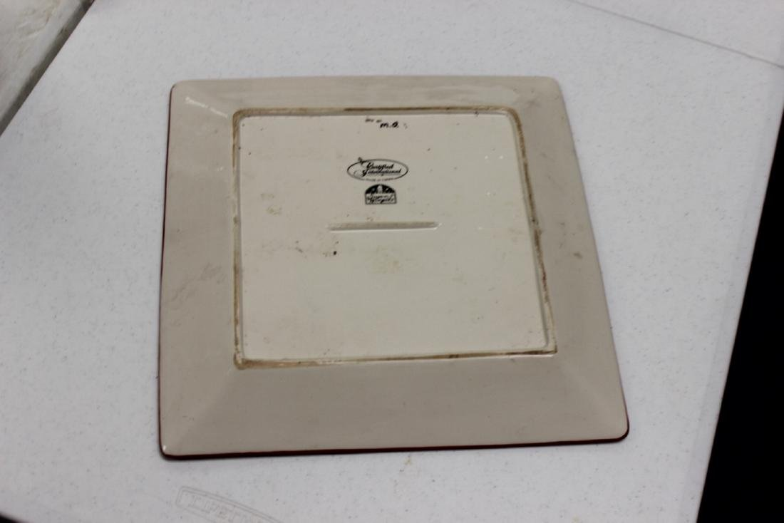 Vintage Collectible Square Tray / Plate Ceramic Susan - 4