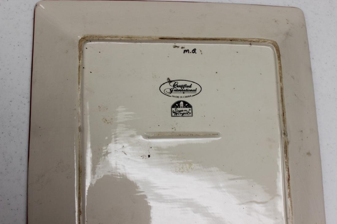 Vintage Collectible Square Tray / Plate Ceramic Susan - 5