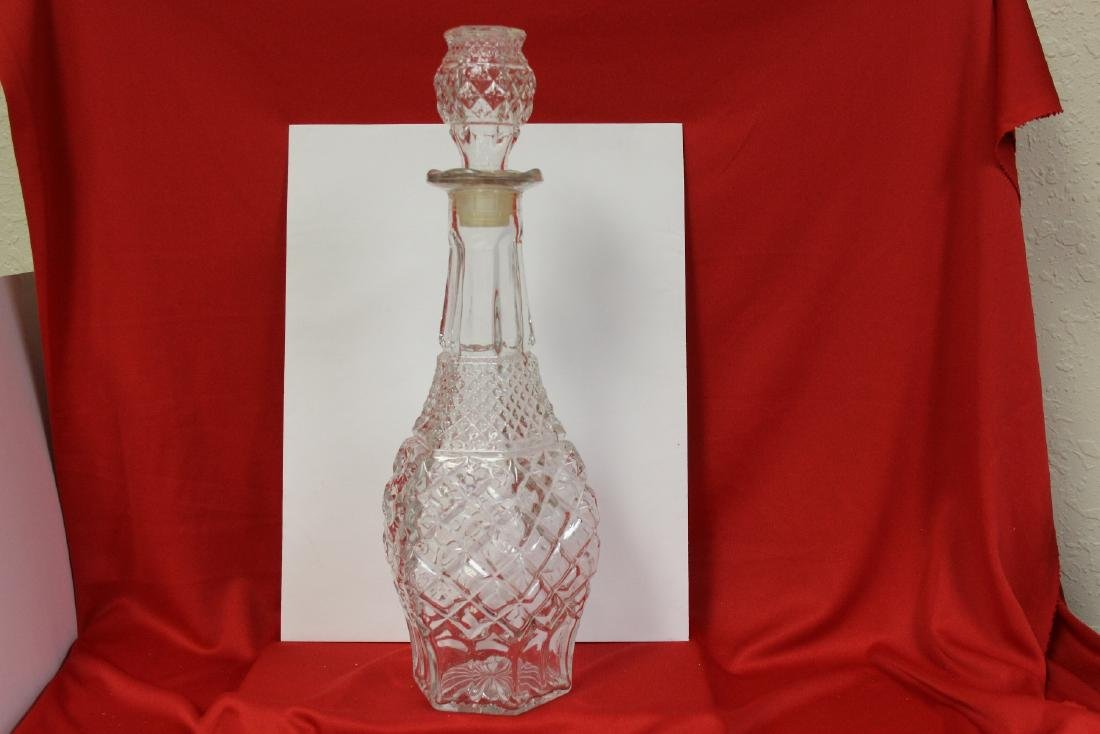 A Press Glassed Decanter