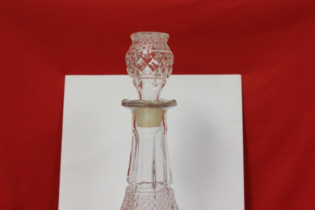 A Press Glassed Decanter - 2